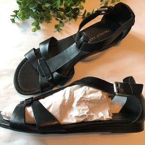 Franco Sarto Black Leather Sandal (9)